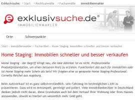 exklusivsuche.de, Home Staging, Immobilien schneller und besser verkaufen