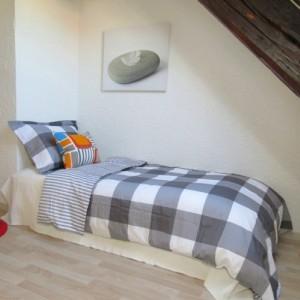 Schlafzimmer, unter dem Dach, gemütlich